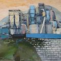 O.T. (Arbeitstitel: Zauberberg I), 2005, Acryl auf Leinwand, 105 x 130 cm