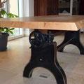Tisch rustikal Eiche Asteiche Schreiner Esstisch Baumkante
