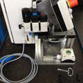 Komplette Pneumatik und Elektronik an einer Montagevorrichtung