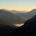 Morgennebel über dem Achensee