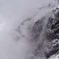 Wolken in der Schlauchkarkopfwand