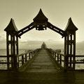 Die Seebrücke von Sellin ist mit 394 m die längste auf Rügen