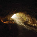 Lichtstrahlen in der Wildkirchlihöhle