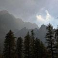 Feuchte Luft in den Karwendelwänden
