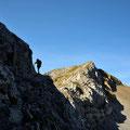 Ein Wanderer am Weg