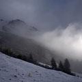 Eine Nebelbank zieht wieder heran