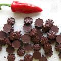 Chocolat noir au piment gorria, variété traditionnelle du pays basque