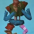 Petit doute. Acrylique sur toile. 22/35 cm. 2015