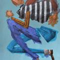 Petit run. Acrylique sur toile. 22/35 cm. 2015