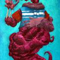 Je ne suis que chaire. Acrylique sur toile. 24/35 cm. 2015