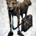 Au taf. Acrylique sur toile. 60/ 92 cm. 2012
