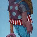 Le touriste. Acrylique sur toile. 19/33 cm. 2015