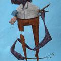 Folie douce. Acrylique sur toile. 22/33 cm. 2015