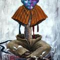 Colonne naturelle. Acrylique sur toile. 60/92 cm. 2012