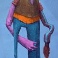 La paresse. Acrylique sur toile. 19/33 cm. 2015