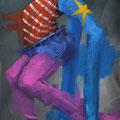 Monsieur. Acrylique sur toile. 20/40 cm. 2013