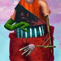 Reconversion idéologique. Acrylique sur toile. 22/35 cm. 2015