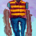 Le minotaure sans Ulysse. Acrylique sur toile. 22/35 cm. 2015