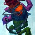 Le retour de Pac-man. Acrylique sur toile. 24/35 cm. 2015