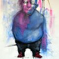 Papa. Acrylique sur papier. 70/100 cm. 2012