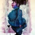 Maman. Acrylique sur papier. 70/100 cm. 2012