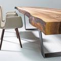 Tisch Kantara mit Baumkante, Detail einer Ecke