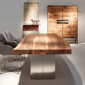 Baumkantentisch, Stühle und Schrank Linum