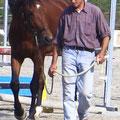 Alberto con suo amico, Centro Ippico San Lorenzo