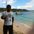 趣味の釣り in レンボンガン島