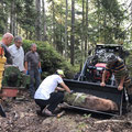 Extraction de la Pierre d'ornement pour abri Belle Roche - 24 07 2019