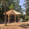 01/07//2019 - Pose de la structure du futur abri pour randonneur à la Belle Roche sur le GR5