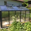 Gewächshaus mit Aluminiumhochbeete: