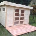 Elementhaus: 280 x 280 cm  +  Terrasse