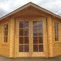 Musterholzhaus: Aruba 1, 300 x 300 cm, 44 mm stark