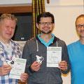 2. Platz: Roman und Rene mit Tac-Leiter Markus