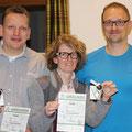 1. Platz: Christoph und Kathrin mit Tac-Leiter Markus
