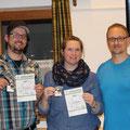 3. Platz: Norman und Katja mit Tac-Leiter Markus