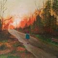 ©  Sonnenuntergang im Forst     Öl auf Leinwand     50x70cm   2.300€