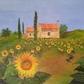 ©   Sonnenblumenfeld   80x100cm   Öl auf Leinwand   2.800€