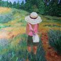 © Die Lavendelplückerin  in Öl   50x70cm     2.100€