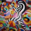 ©  Die Zebrafrau  Ölbild   120x100cm  4.600€