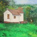 © Gespräch über Maler   Öl auf Leinwand   40x50cm   950€