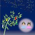 7月カレンダー 織姫と彦星