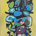 """Dämon IV"", 2012, 40 x 120 cm, Öl auf Leinwand"