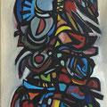 """Dämon VI"", 2012, 40 x 120 cm, Öl auf Leinwand"