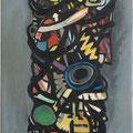 """""""Dämon V"""", 2012, 40 x 120 cm, Öl auf Leinwand"""