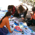 """Malen zum Thema """"Wasser"""", in urbanen Räumen, Projekt """"Mural"""""""