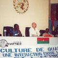 """Conferencia para el proyecto de la UNESCO """"Cultura en el Barrio"""" en Burkina Faso (2001)"""
