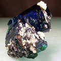 Collectible minerals: Azurite,Morroco.