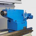 Massiver Reitstock mit einem Pinolendurchmesser von 220 mm und Lagerung in der Pinole.